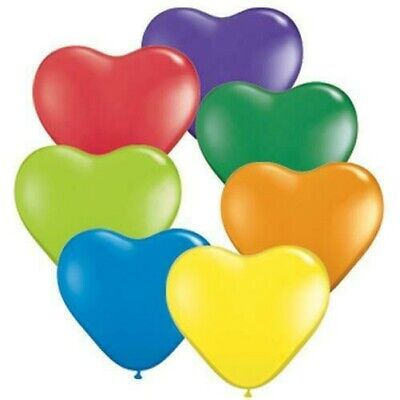 63.5x15.2cm Qualatex Mode Couleurs Forme Coeur Ballons en Latex - Vous