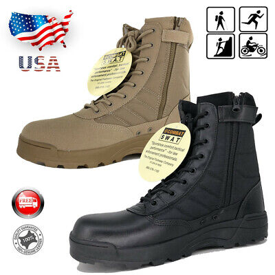Men Army Military Duty Work Boots Forced Entry Tactical Deployment Shoes Combat
