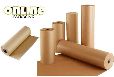 600MM x 25M STRONG BROWN KRAFT PAPER ROLL PARCEL PACKAGING WRAPPING 90GSM