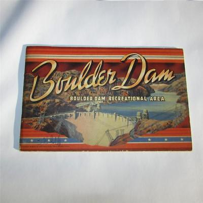 1947 Boulder Dam by Curt Teich Pictorial Souvenir Book Nevada 32 Pages 5.5 x 8.5