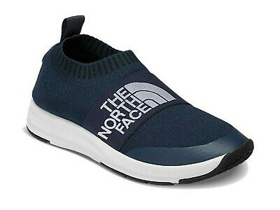 THE NORTH FACE NSE TRACTION KNIT MOC SHOES size 10 URBAN NAVY/ TNF WHITE