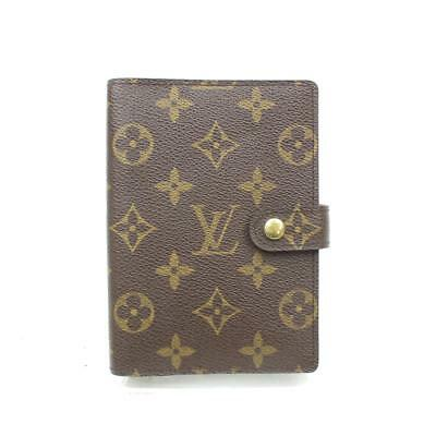 Authentic Louis Vuitton Diary Cover Agenda PM Browns Monogram 371604
