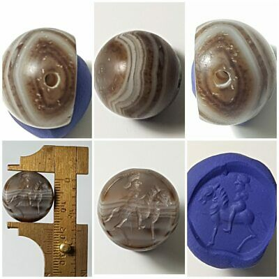 Medievel old agate intaglio stamp seal