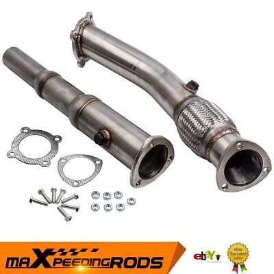 "Downpipe Décatalyseur Tube Afrique INOX 3"" for VW GOLF 4 / BORA 1.8T / 1.8 GTI"