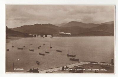 Barmouth 1890/'s Bridge and Cader Idris Vintage Welsh Photography Poster