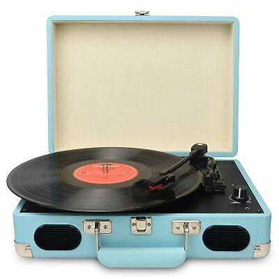 Mini USB Stereo Turntable Vinyl Record Player 2-Speed RCA Outputs I2Q5