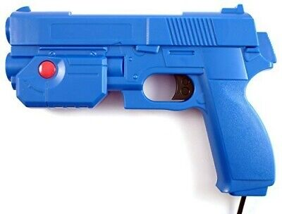 "AimTrak Light Gun Boxed ""BLUE""  With NEW RECOIL (Excl PSU) works on mame/ps2"