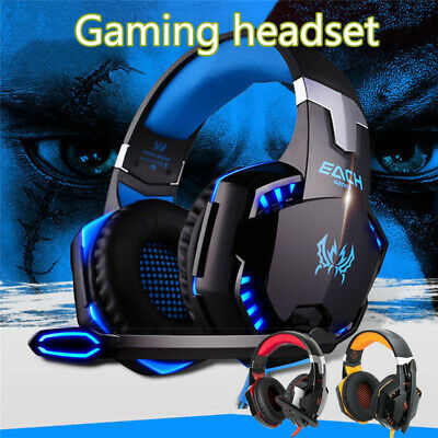 3.5mm Gaming Headset LED Headphones Stereo Surround for PC PS4 Xbox ONE SWITCH