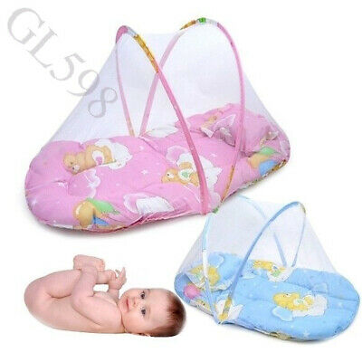 US Portable Foldable Baby Kids Infant Bed Dot Zipper Mosquito Net Tent Crib