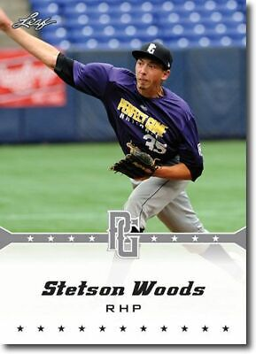 10-Count Lot STETSON WOODS 2013 Leaf Perfect Game Rookie Silver RCs