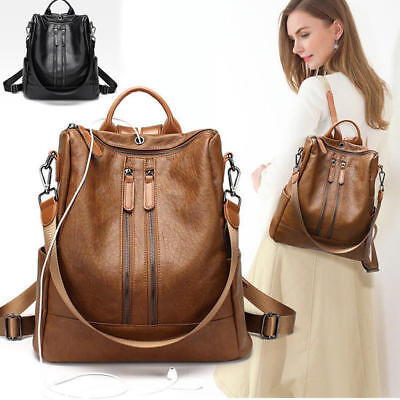 New Women Ladies Real Soft Leather Shoulder Bags Backpack Messenger Handbag AU