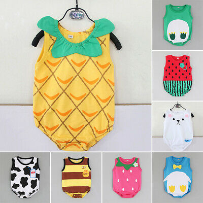 Infant Romper Bodysuit Jumpsuit Outfit Clothes Lovely Printed For 1~18 Months