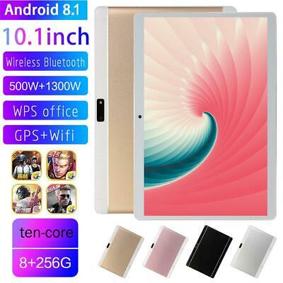 "10.1"" Tablet Android 8.1 8GB+ 256G Ten-Core WIFI+3G HD Camera Tablet PC Computer"