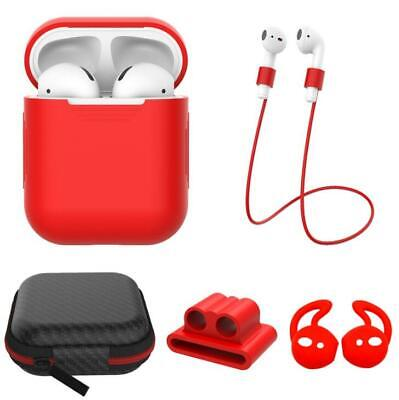 5in1 For Apple AirPods Case Protect Silicone Cover Skin Earphone Charging Case