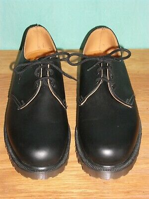 Vintage Dr Martens Shoes Size 9 Black Lace Up Leather Retro Made In England