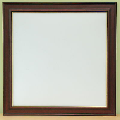 "24x24"" frame in mahogany finish Moulding with gold line width 2½ "" D rings/cord"