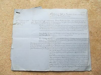1872 Sutton Surrey Abstract Of Title  Indenture Freehold Land With Plan