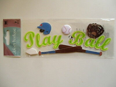JOLEE'S BOUTIQUE TITLE  STICKERS - PLAY BALL baseball