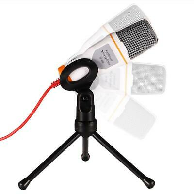 Mic Wired Condenser Microphone with Holder Clip for Chatting Singing N4U8 01