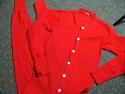 Vintage Penneys Towncraft Red Long Johns Union Suit Excellent Small