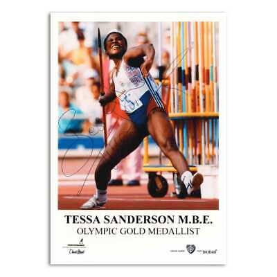 Tessa Sanderson - Autograph - Signed Colour Photograph
