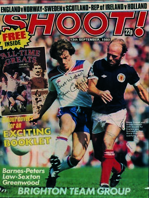 Steve Coppell & Archie Gemmill - Autographs - Signed Magazine Cover
