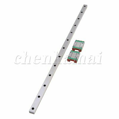500mm MGN15 Linear Motion Slider Sliding Mini Guide Rail with 2 Extension Block