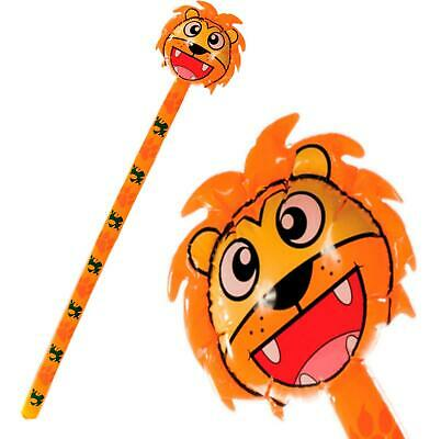 145Cm Giant Inflatable Lion Stick Blow Up - Kids Fun Zoo Jungle Animal Party Toy