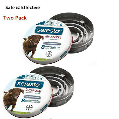 Bayer Seresto Flea and Tick Collar for Large Dog,Safe & Effective-Two Pack