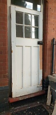 1930's Large Period Glazed Front / Porch Door 79 3/4 H X 32 W X 46 mm Thick D6