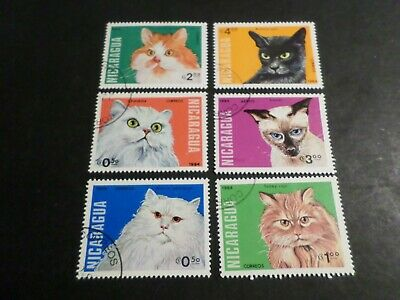 NICARAGUA, CHATS, LOT timbres oblitérés, TB, VF cancelled STAMPS