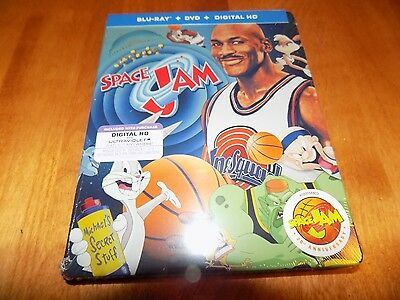 SPACE JAM 20th Anniversary Michael Jordan Bugs Bunny Steelbook DVD Blu-Ray NEW
