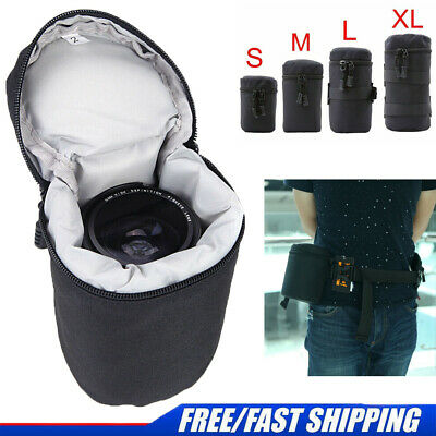 Thick Protective Waterproof For DSLR Camera Lens Pouch Bag Travel Case Cover New