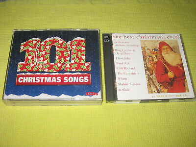 101 Christmas Songs & The Best Christmas Ever 2 Albums 4 CDs Lennon Bowie