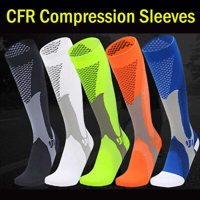 Unisex Knee Stockings Compression Supports Edema Varicose Veins Tired Nylon Sock