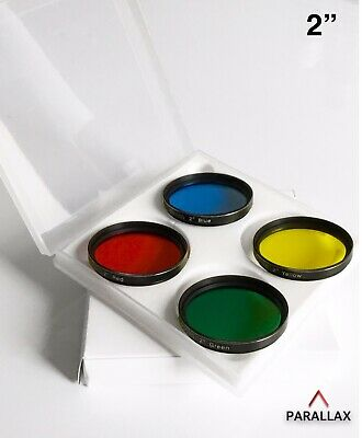 """2"""" X 4 COLOUR FILTERS For Planetary And Lunar Observing. Glare Free. UK"""