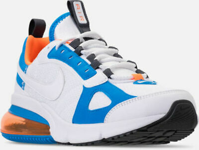 best website d3fbc c9d4f Mens Nike Air Max 270 Futura White Orange Blue Athletic Running Shoes  AO1569-