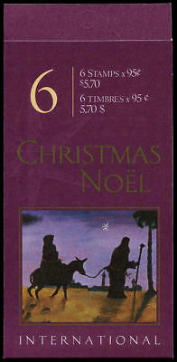 Canada Stamp Booklet - #BK235 -Christmas Nativity,  (2000) 6 x 95¢  #1875a