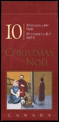 Canada Stamp Booklet - #BK233 -Christmas: Nativity #1873a (2000) 10 x 46¢ MNH