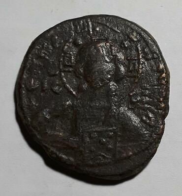 Anonymous Bronze Christ Follis Byzantine Era 1028-1034AD Nice!