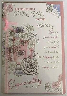 Special Wishes To My Wife On Your Birthday - Birthday Greeting Card