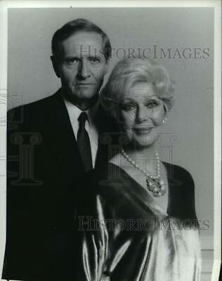 1986 Press Photo Loretta Young and Arthur Hill stars in Christmas Eve