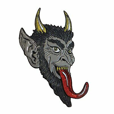 Krampus Christmas Devil Monster Enamel Pin Horror Movie Goth Collectible Gift