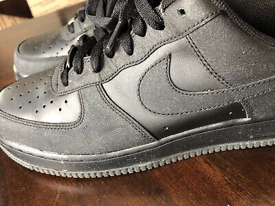 reputable site e2217 3fc46 Nike Air Force 1 Black Suede Size 10