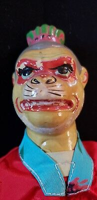 Vintage Hand Made & Painted China Chinese Asian Hand Puppet Scary Monkey Face