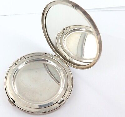 .Vintage / Heavy Set Gorham Sterling Silver Ladies Compact.