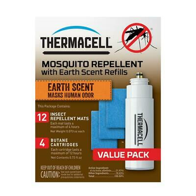 Thermacell Earth Scent Mosquito Repellent 48-Hour Refill Pack - 4 Cart & 12 Mats