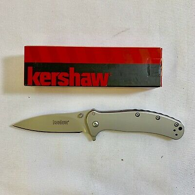 Kershaw Zing Stainless Steel SpeedSafe Assisted Folding Knife Plain Edge 1730SS
