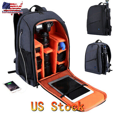 Large Waterproof DSLR Camera Backpack Shoulder Bag Case For Canon Nikon Sony USA