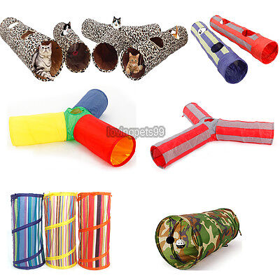 Pet Tunnels Cat Products Toys Funny Hole Kitten Long Tunnel Multi Types Play Toy